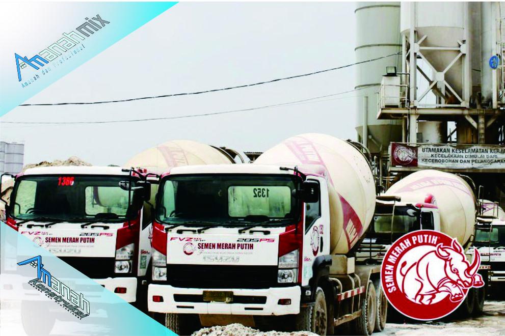 Harga Beton Cor Merah Putih di Amanah Konstruksi kompetitif dan langsung terintegrasi ke Batching Plant