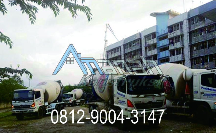 Harga Beton Cor per m3 Bandung yang kompetitif dan mutu terjamin di Amanah Konstruksi